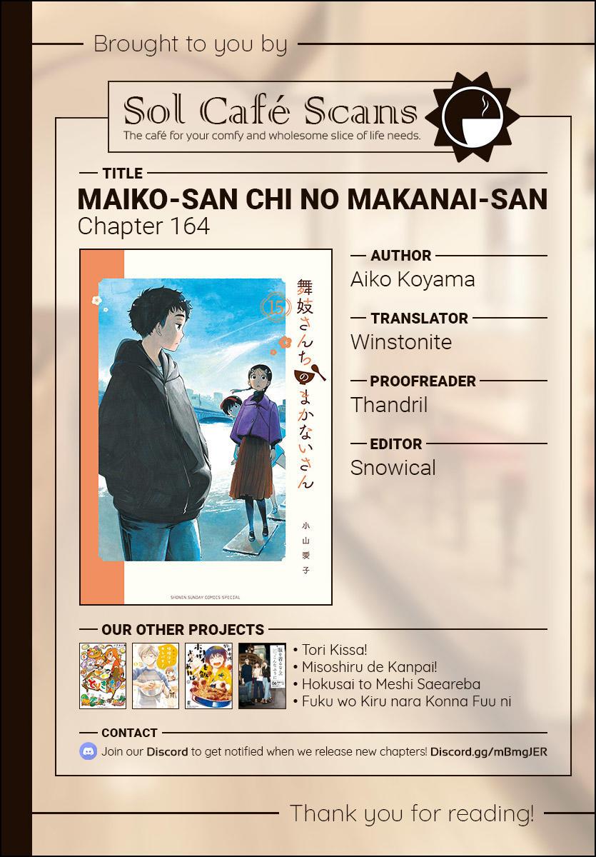 Maiko-San Chi No Makanai-San Vol.16 Chapter 164: See You Later page 12 - Mangakakalots.com