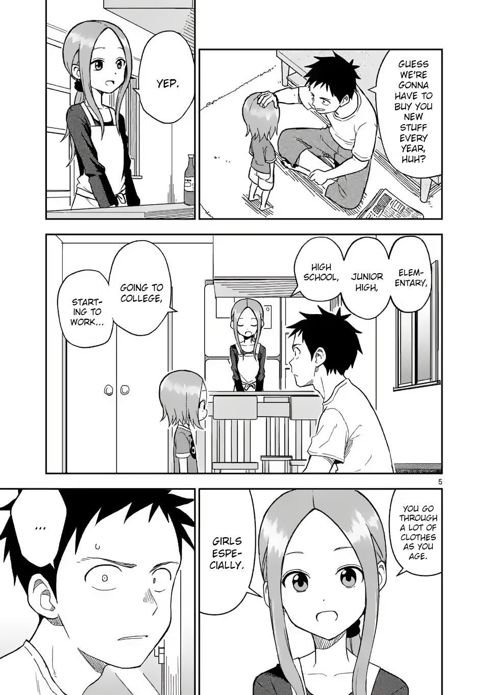 Karakai Jouzu No (Moto) Takagi-San Chapter 156 page 5 - Mangakakalots.com