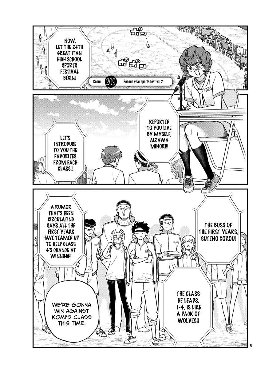 Komi-San Wa Komyushou Desu Chapter 209: Second Year Sports Festival 2 page 1 - Mangakakalot