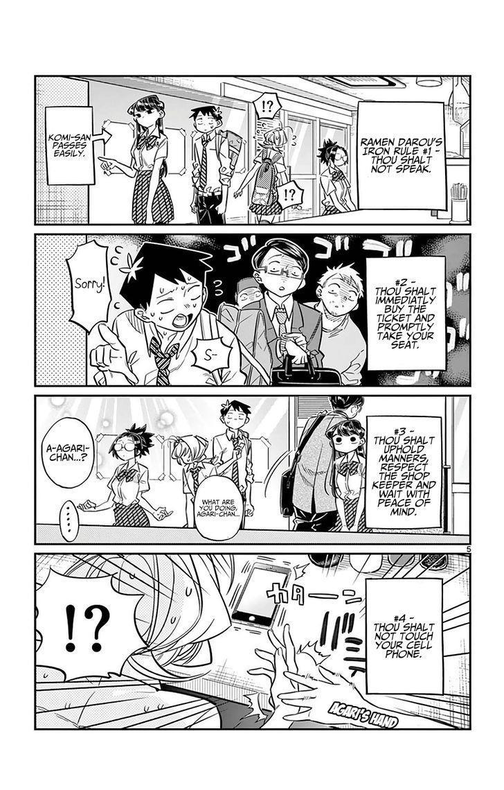 Komi-San Wa Komyushou Desu Vol.2 Chapter 28: Tough Noodles Full Of Oil Bit Spicy And Some Veggies page 5 - Mangakakalot