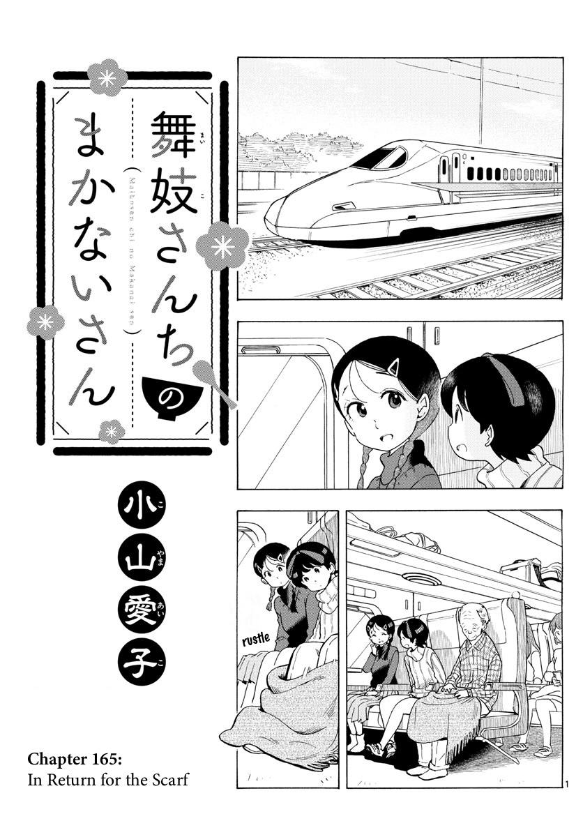 Maiko-San Chi No Makanai-San Vol.16 Chapter 165: In Return For The Scarf page 1 - Mangakakalots.com