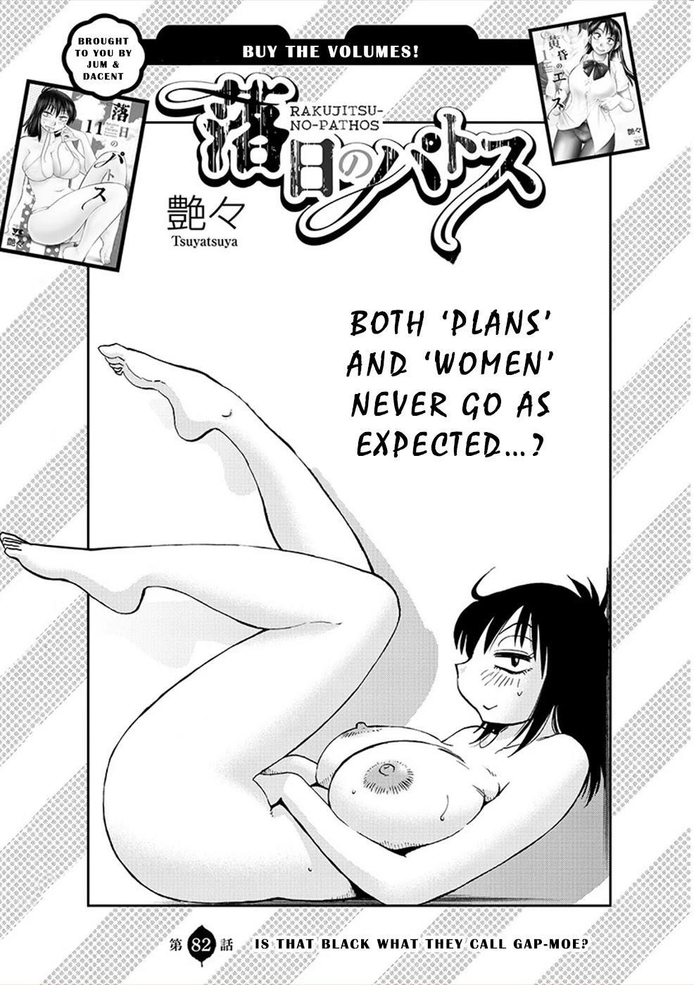 Rakujitsu No Pathos Chapter 82: Is That Black What They Call Gap-Moe? page 1 - Mangakakalots.com