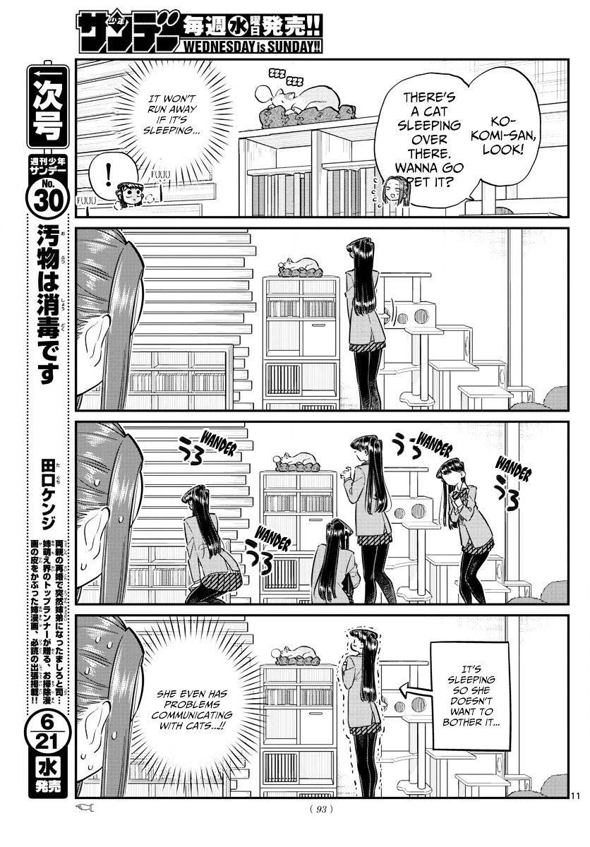 Komi-San Wa Komyushou Desu Vol.6 Chapter 81: Cat Cafe page 11 - Mangakakalot