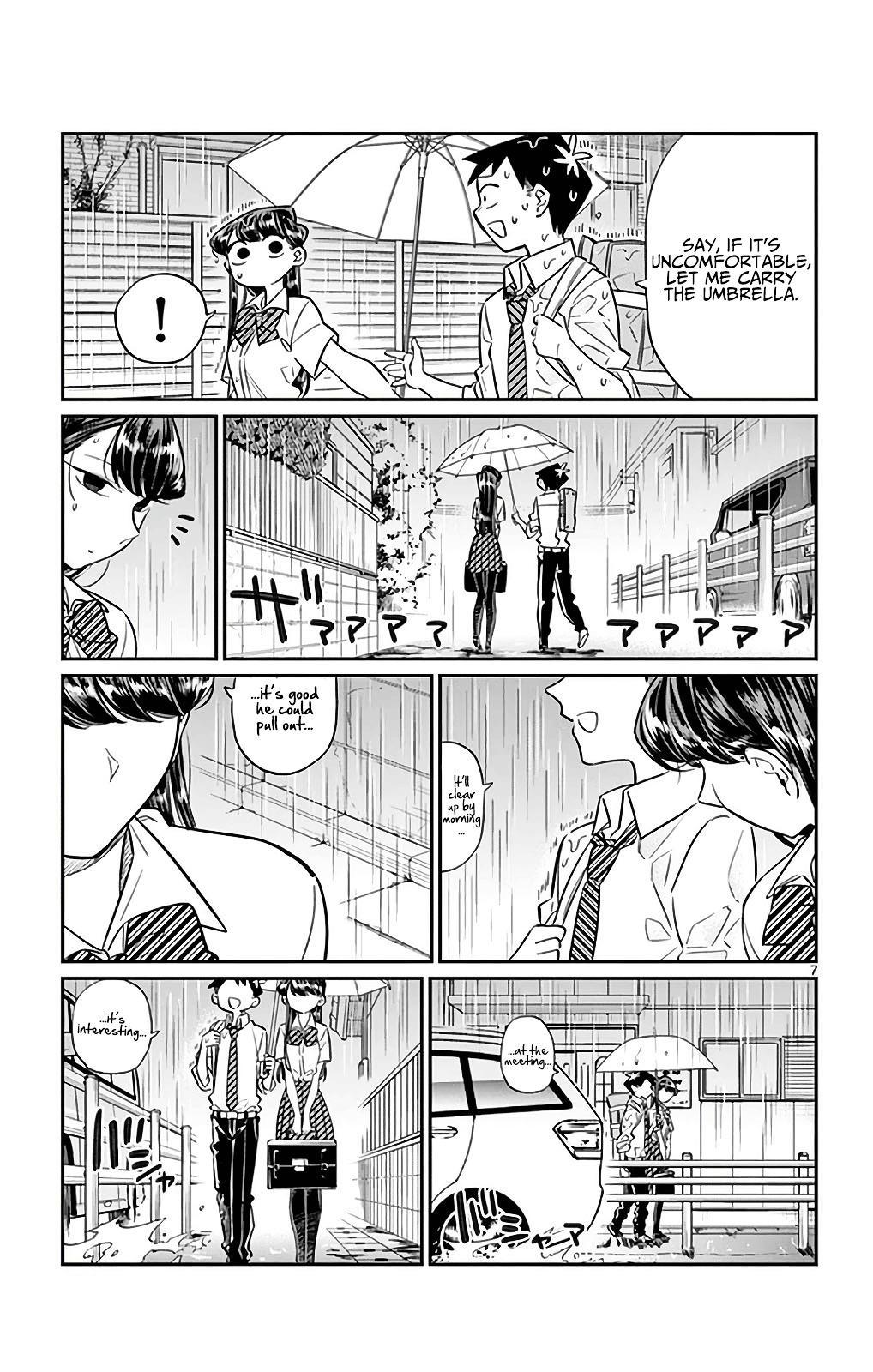Komi-San Wa Komyushou Desu Vol.2 Chapter 30: It's Raining page 7 - Mangakakalot