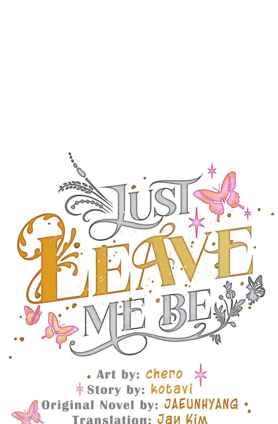Just Leave Me Be Chapter 52 page 1
