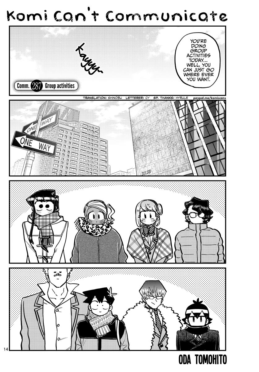 Komi-San Wa Komyushou Desu Chapter 287: Group Activities page 1 - Mangakakalot