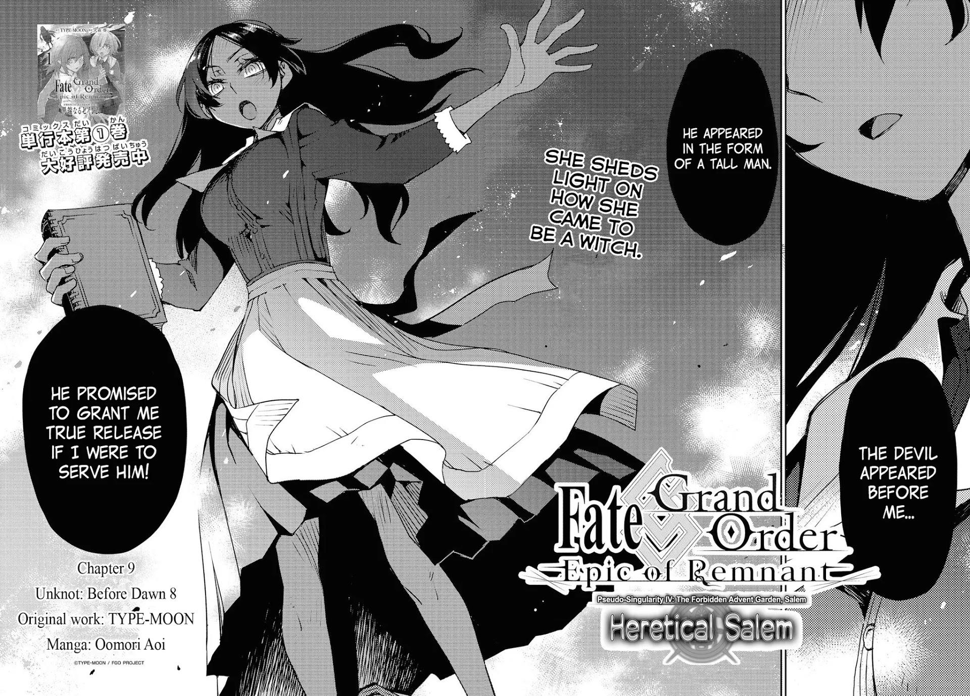 Fate/grand Order: Epic Of Remnant - Subspecies Singularity Iv: Taboo Advent Salem: Salem Of Heresy Chapter 9: Unknot: Before Dawn 8 page 2 - Mangakakalots.com