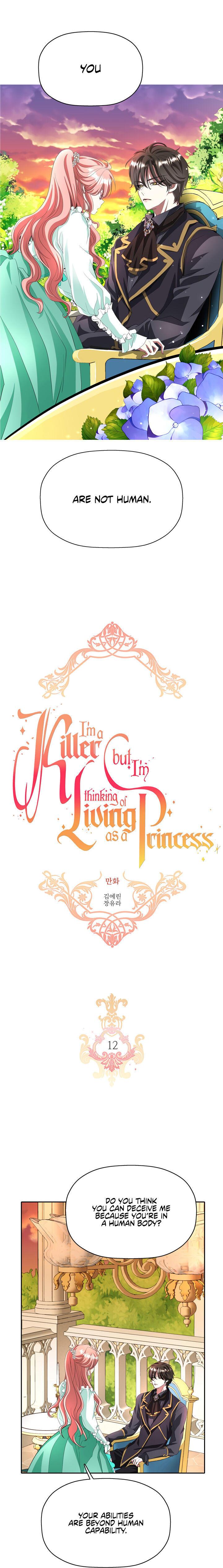 I'M A Killer But I'M Thinking Of Living As A Princess Chapter 12 page 2 - Mangakakalots.com
