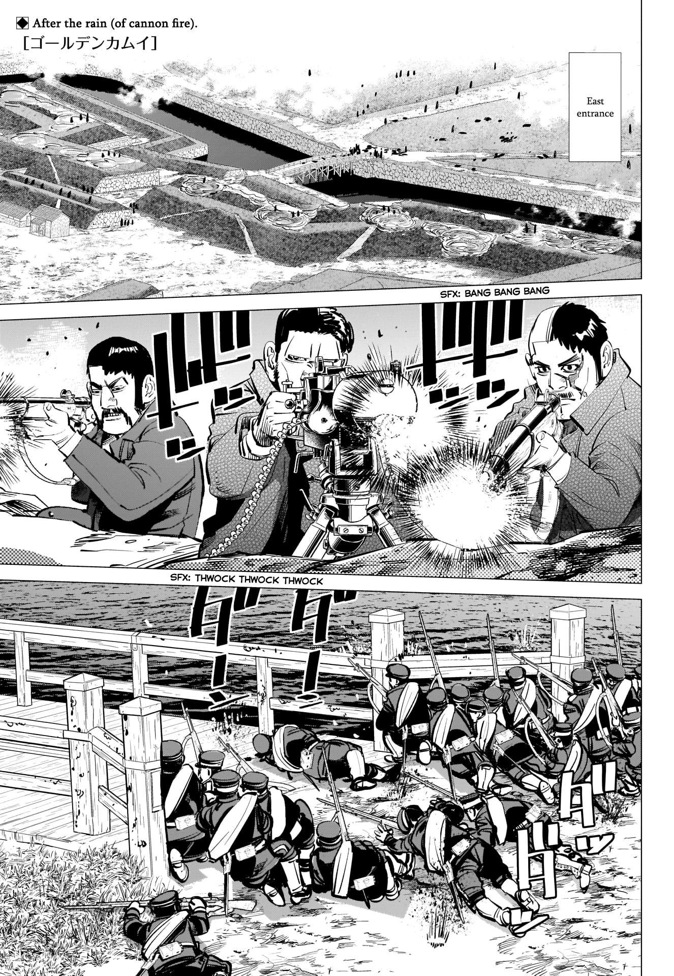 Golden Kamui Chapter 292: The Naval Battle Of Hakodate Bay page 1 - Mangakakalots.com