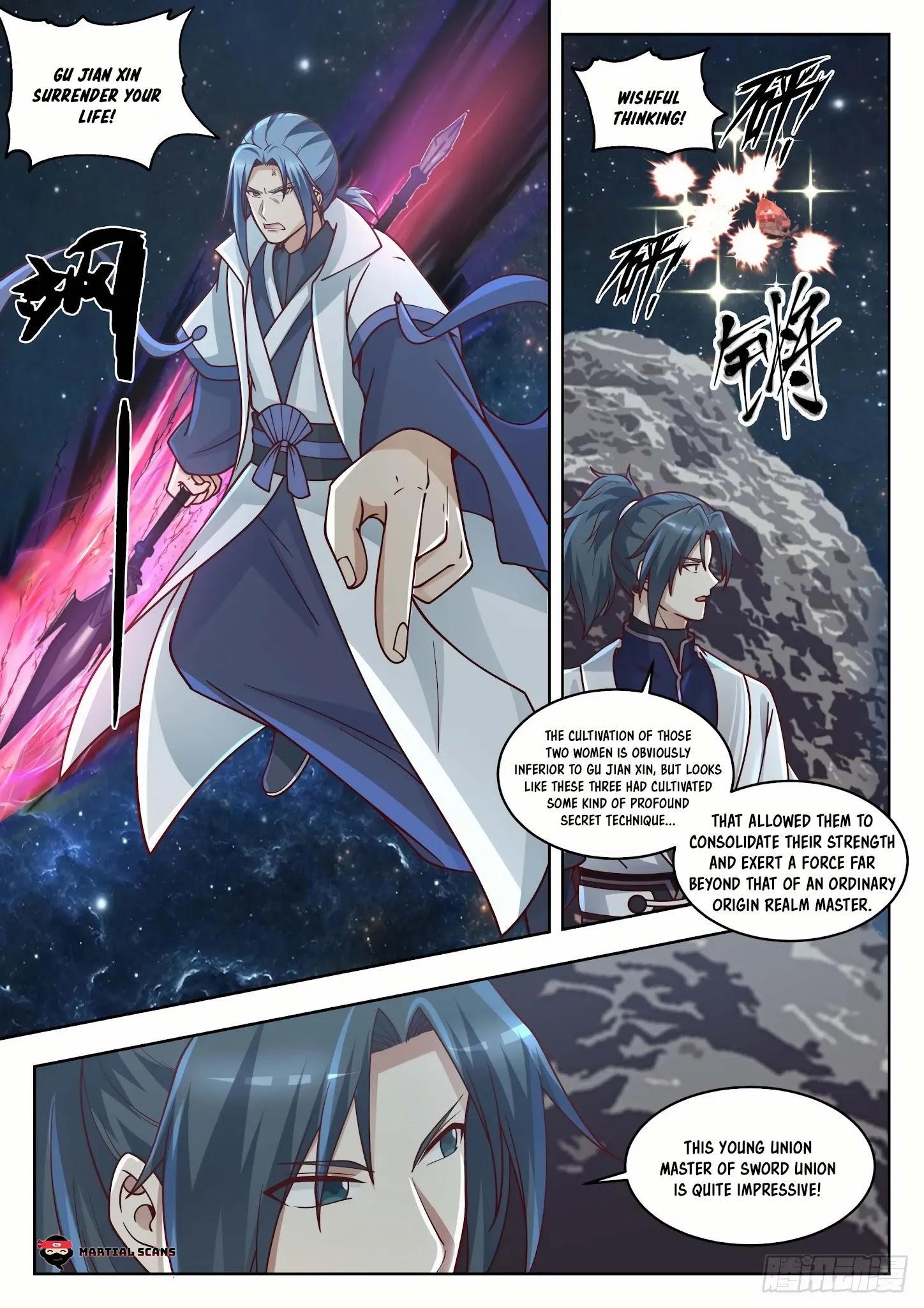 Martial Peak Chapter 1445: Three Swords Brilliance Secret Technique page 11 - Mangakakalot