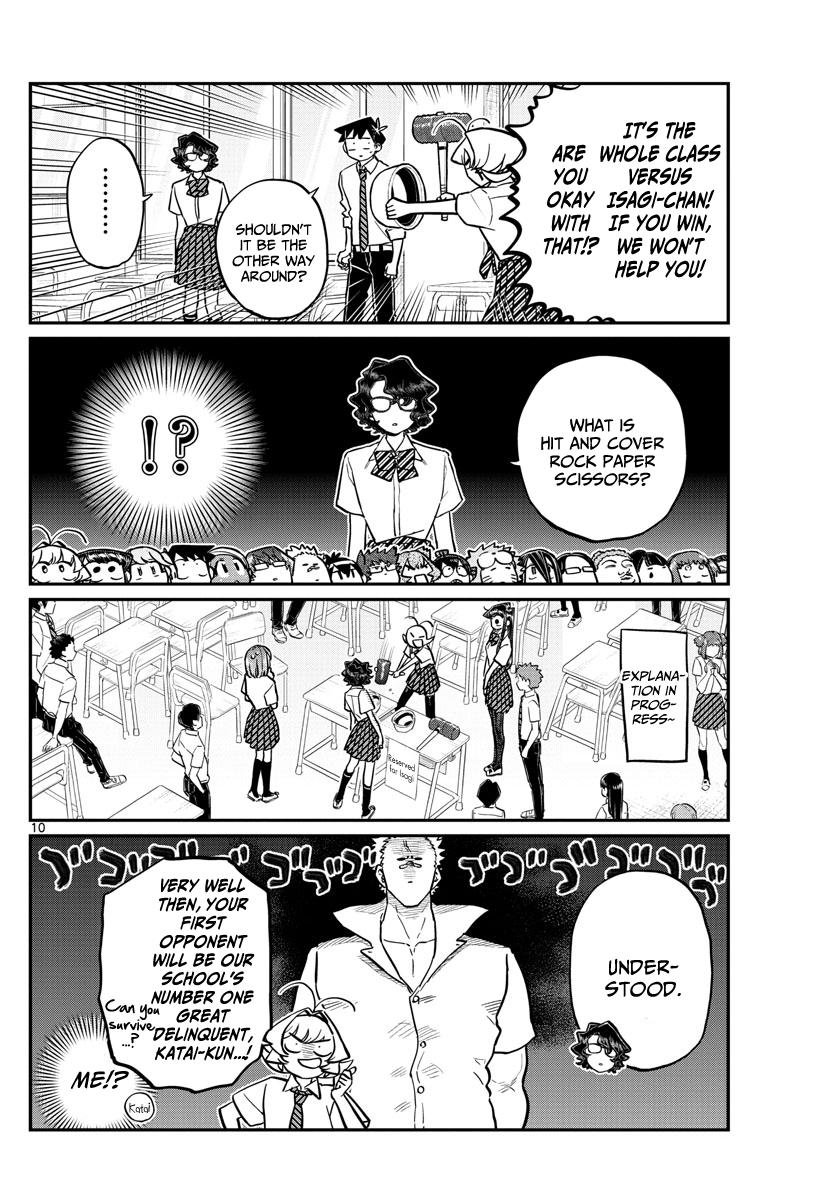 Komi-San Wa Komyushou Desu Chapter 199: Hit And Cover Rock Paper Scissors page 10 - Mangakakalot
