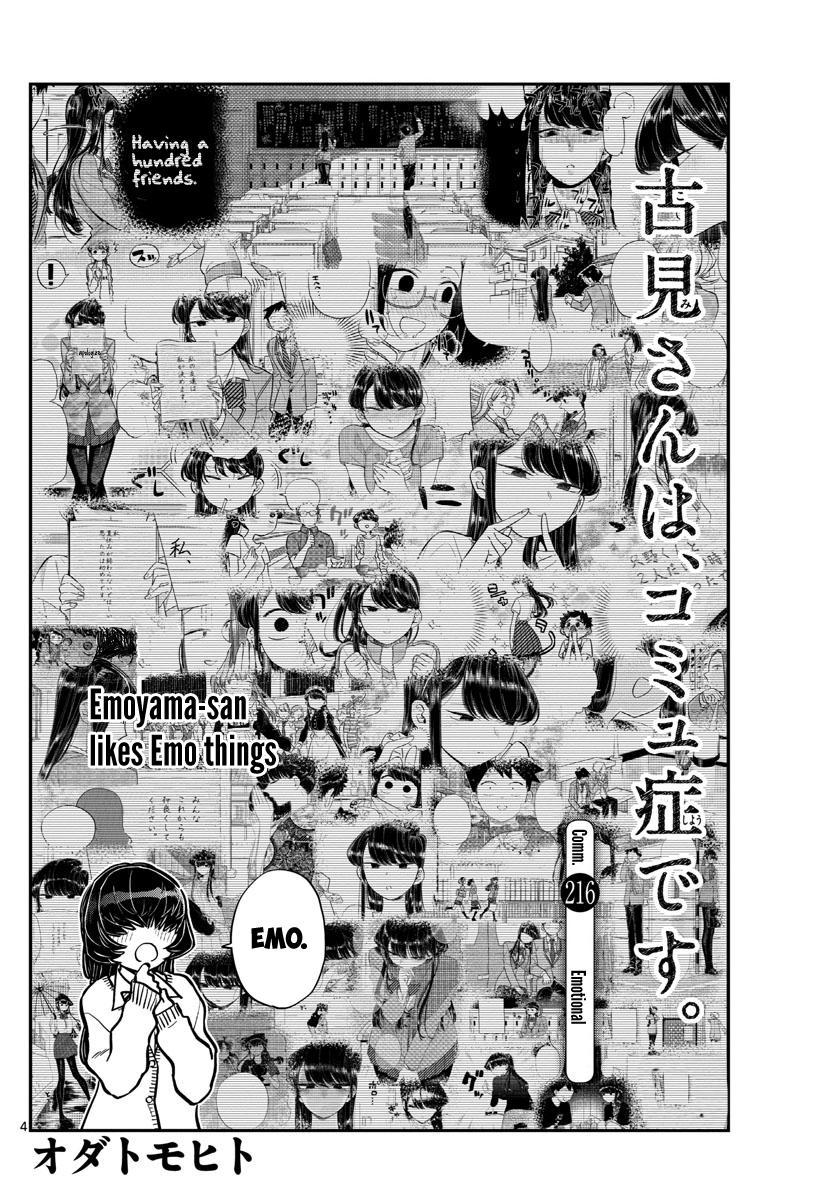 Komi-San Wa Komyushou Desu Chapter 216: Emotional page 4 - Mangakakalot