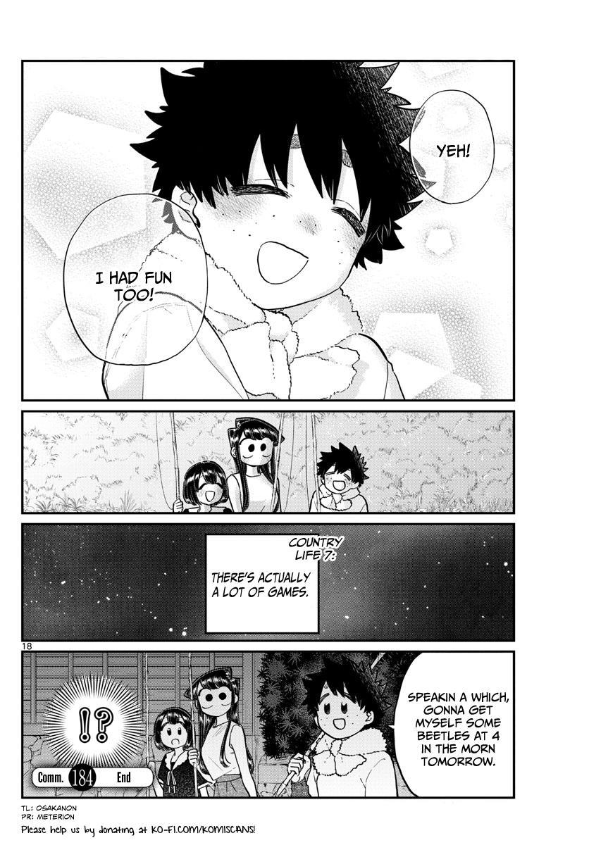 Komi-San Wa Komyushou Desu Vol.13 Chapter 184: Playing In The Country page 18 - Mangakakalot