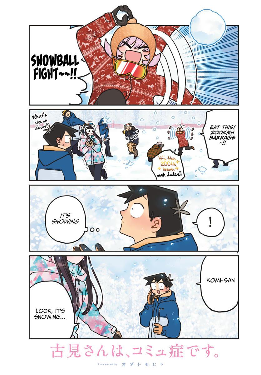 Komi-San Wa Komyushou Desu Chapter 262: Snowboarding 2 page 1 - Mangakakalot