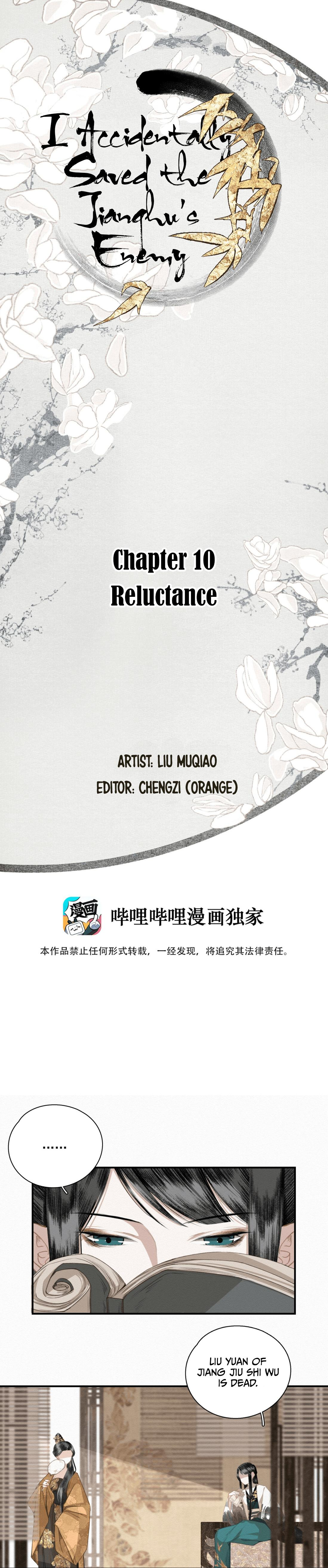 I Accidentally Saved The Jianghu'S Enemy Chapter 10: Reluctant page 1 - Mangakakalots.com