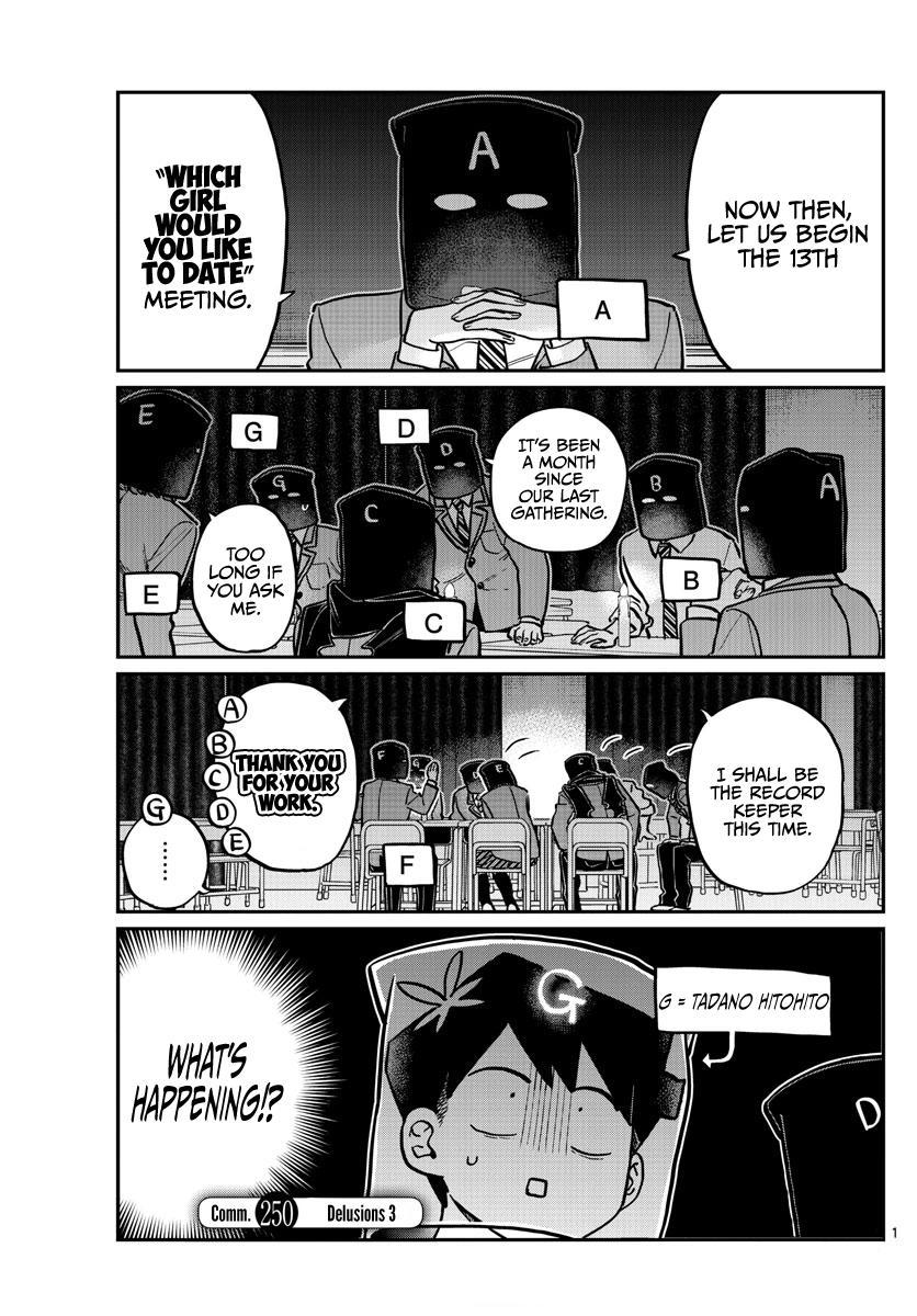 Komi-San Wa Komyushou Desu Chapter 250: Delusions 3 page 1 - Mangakakalot