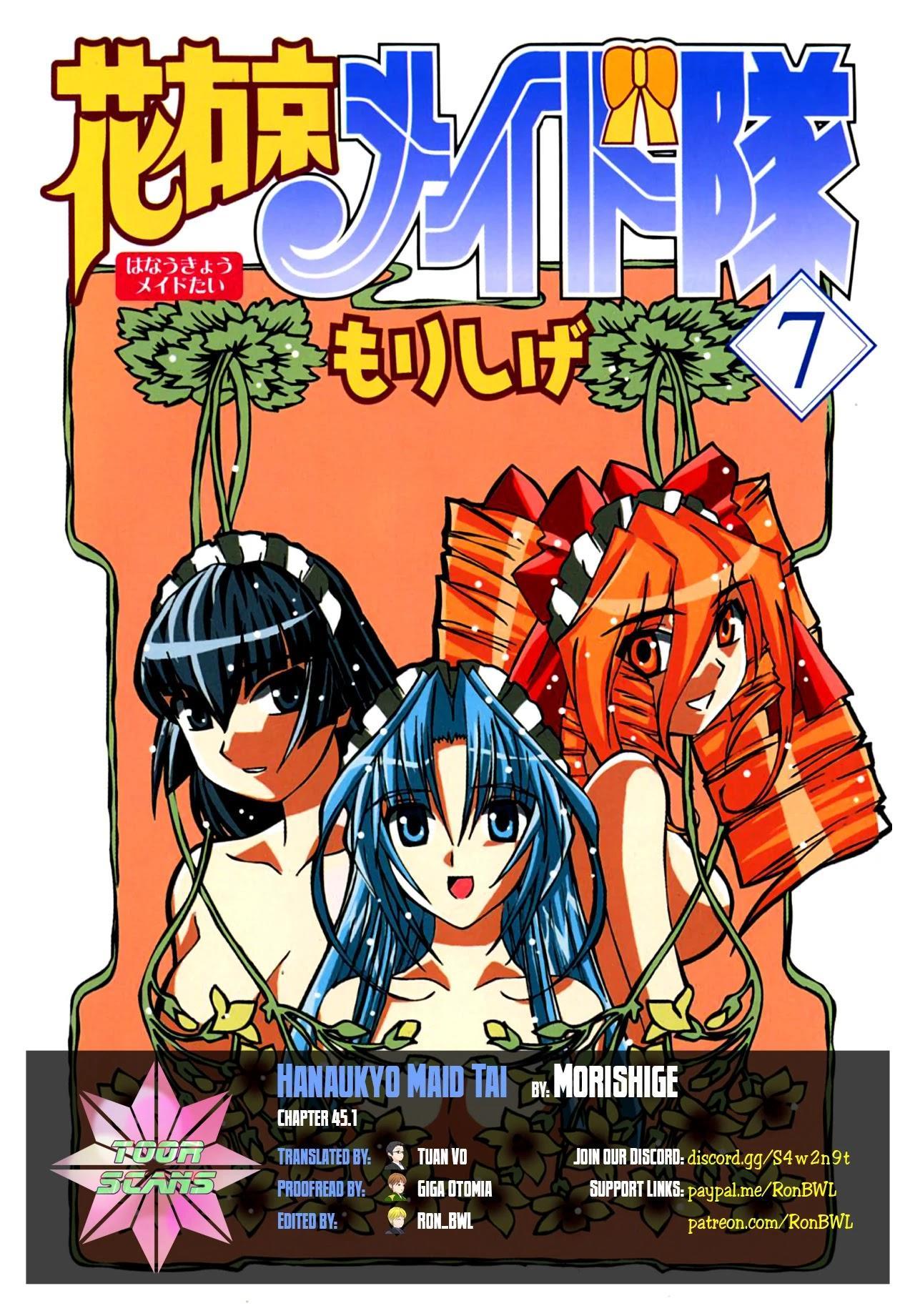 Hanaukyo Maid Tai Chapter 45.1 page 1 - Mangakakalots.com