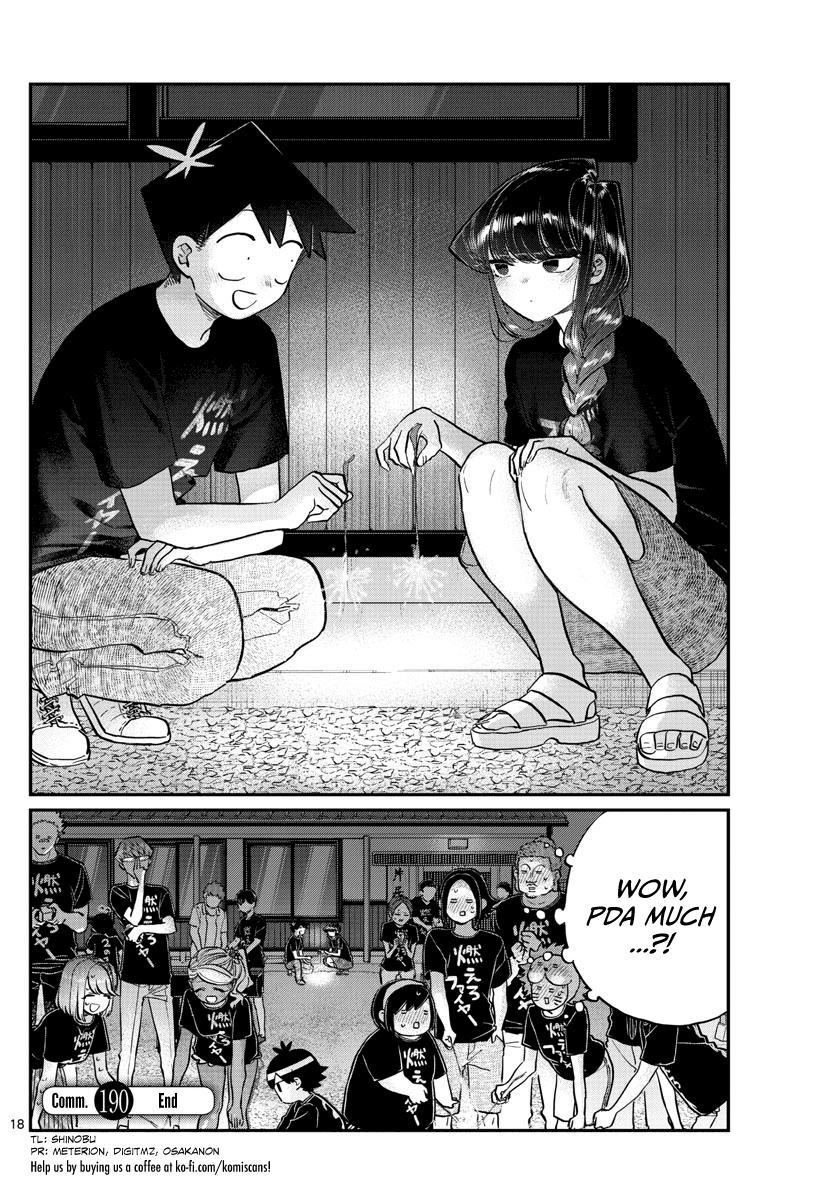 Komi-San Wa Komyushou Desu Chapter 190: Sparklers page 3 - Mangakakalot