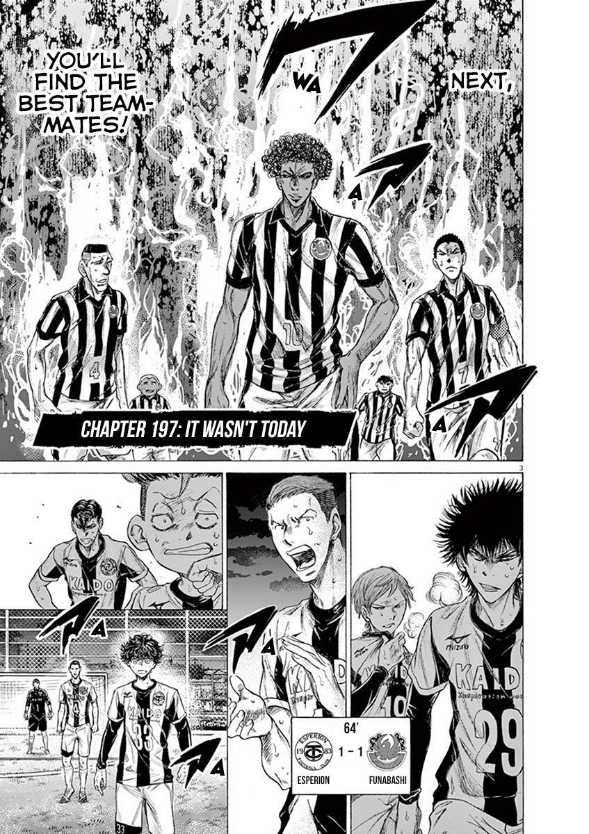 Ao Ashi Vol.19 Chapter 197: It Wasn't Today page 3 - Mangakakalots.com