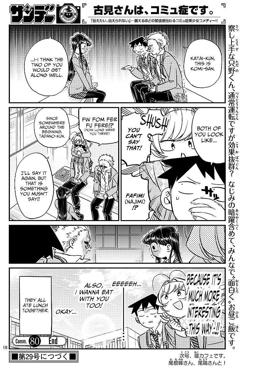 Komi-San Wa Komyushou Desu Vol.6 Chapter 80: Lunch Invitation page 18 - Mangakakalot