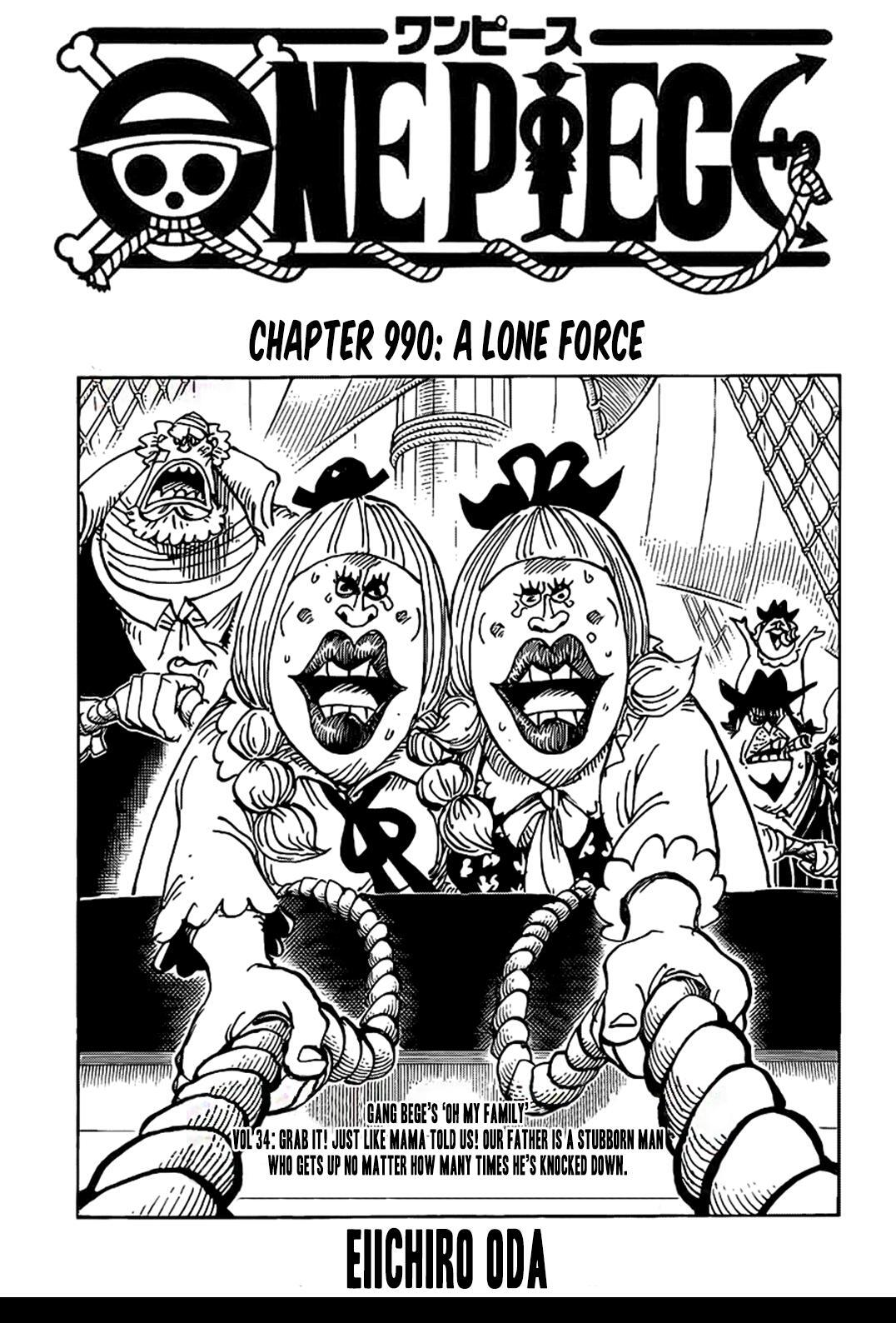 One Piece Chapter 990 page 1 - Mangakakalots.com