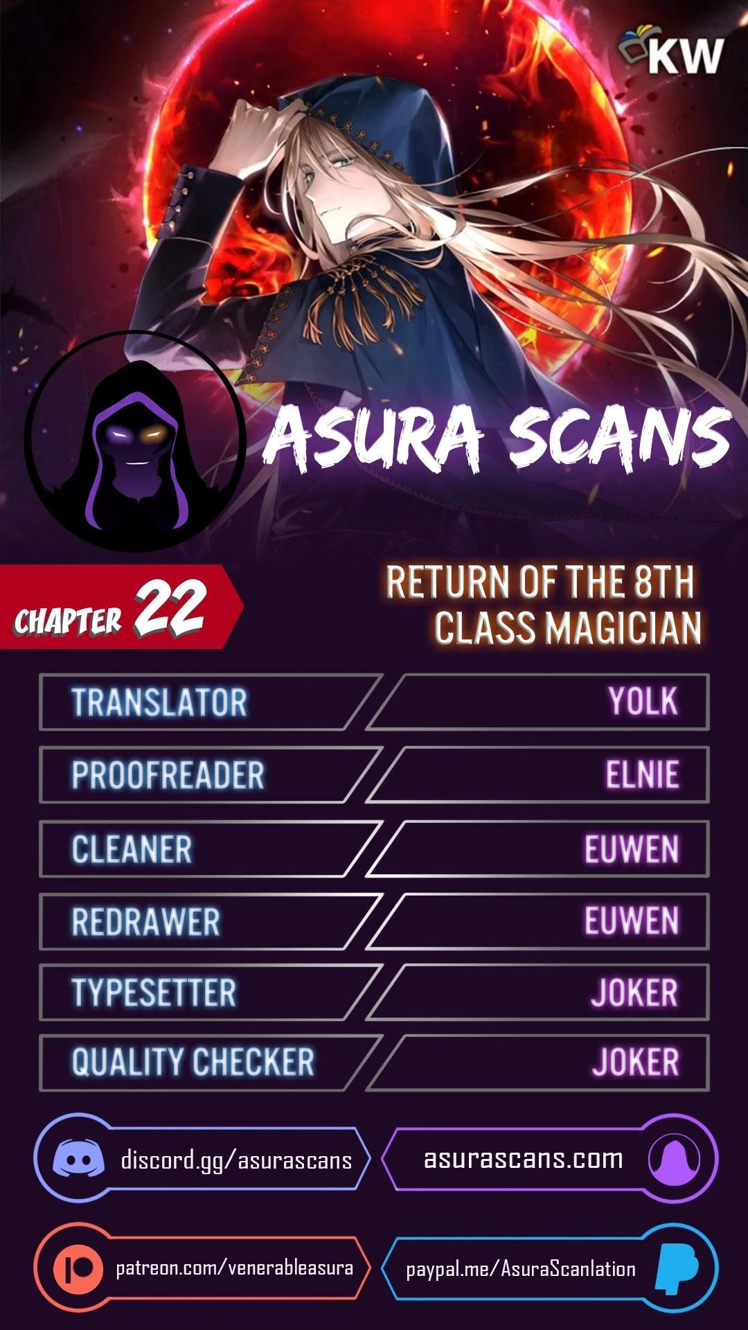 Return Of The 8Th Class Magician Chapter 22 page 1 - Mangakakalots.com