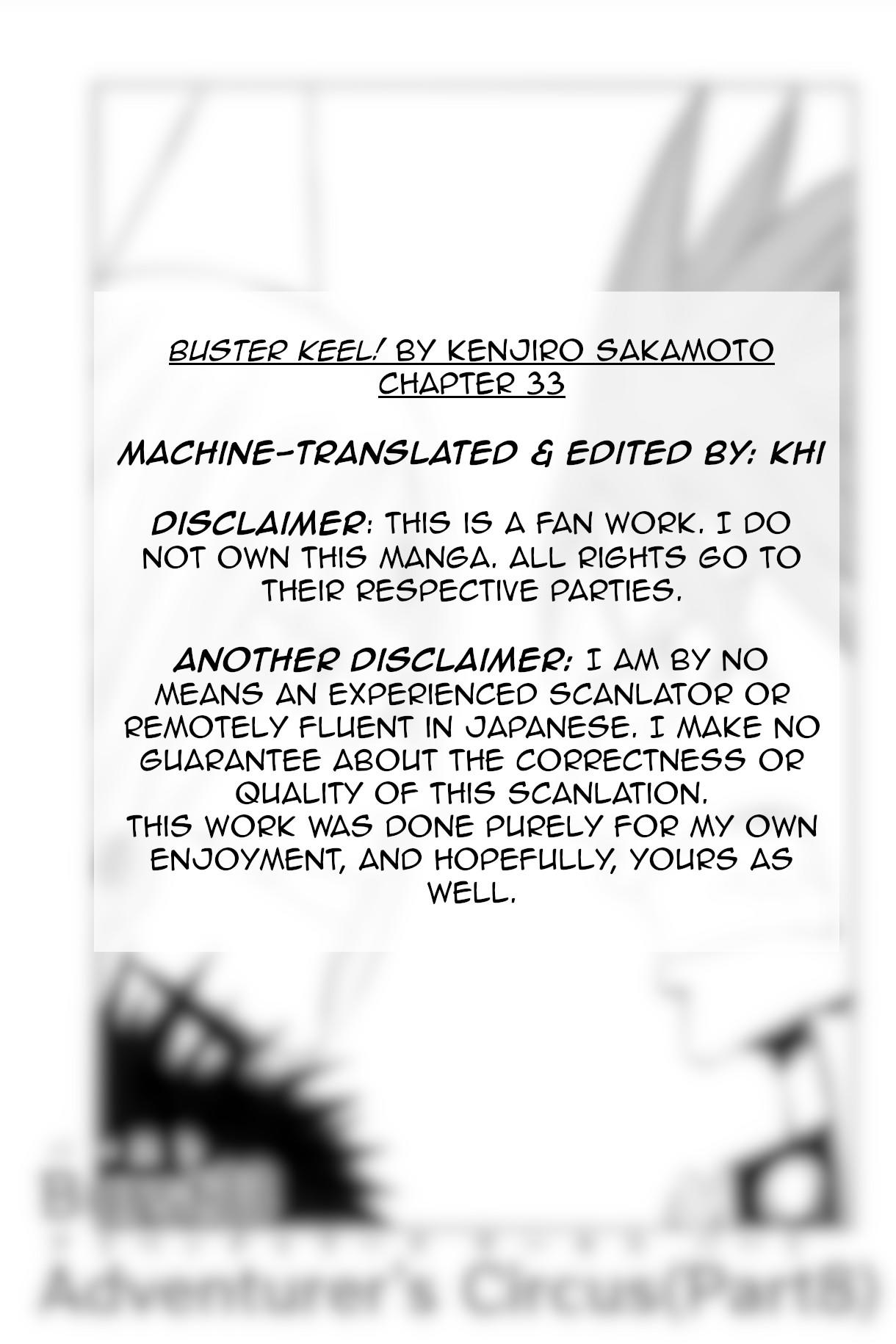 Buster Keel! Chapter 33: Adventurer's Circus (Part 8) page 1 - Mangakakalots.com