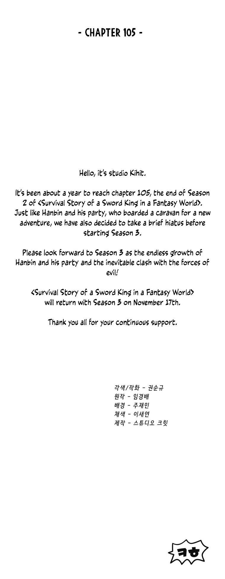 Survival Story Of A Sword King In A Fantasy World Chapter 105 page 61 - Mangakakalots.com