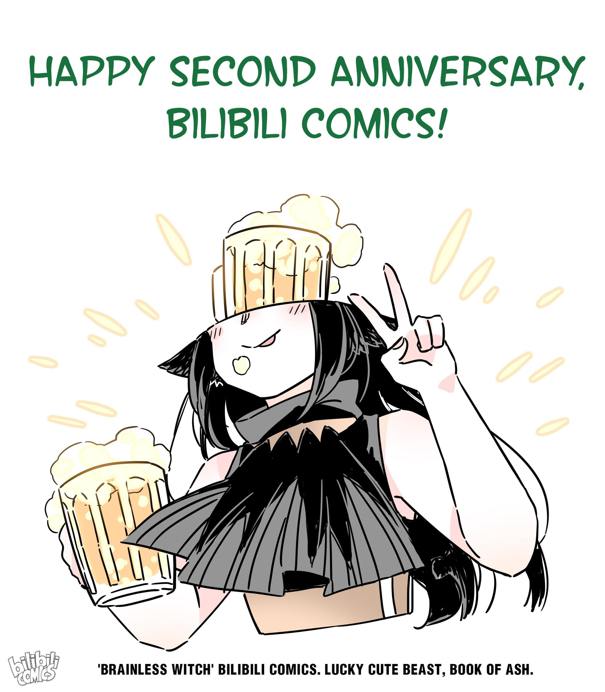 Brainless Witch Chapter 37.5: 2Nd Anniversary page 1 - Mangakakalots.com