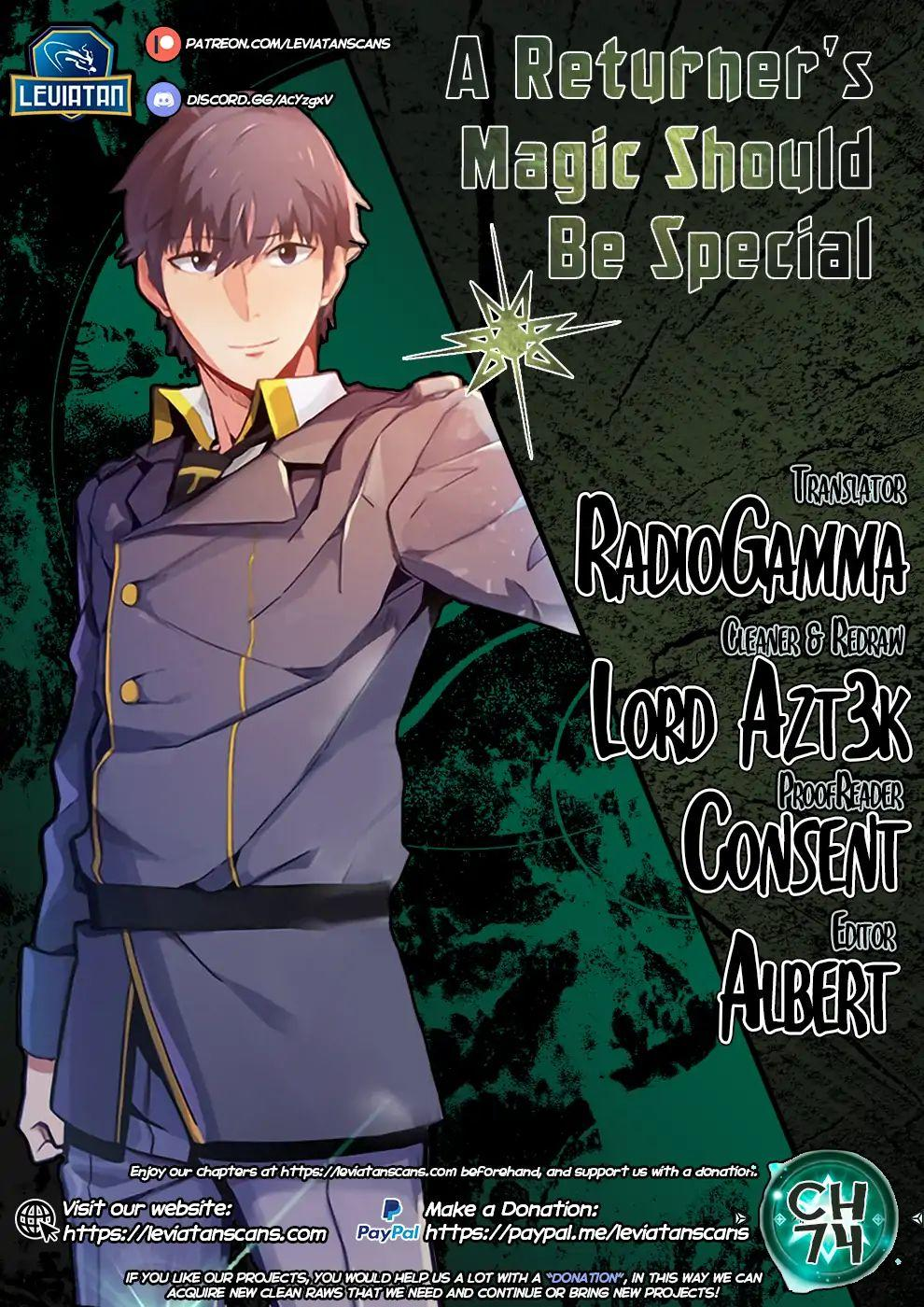 A Returner's Magic Should Be Special Chapter 74 page 1 - Mangakakalots.com