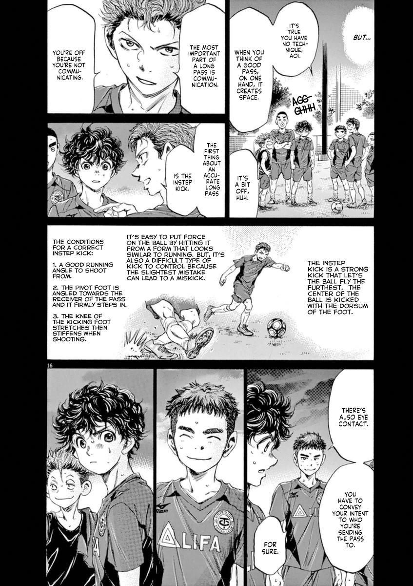 Ao Ashi Vol.9 Chapter 94: Tokyo Division League Eight Match: Vs. Tokyo Musashino Club Youyh page 15 - Mangakakalots.com
