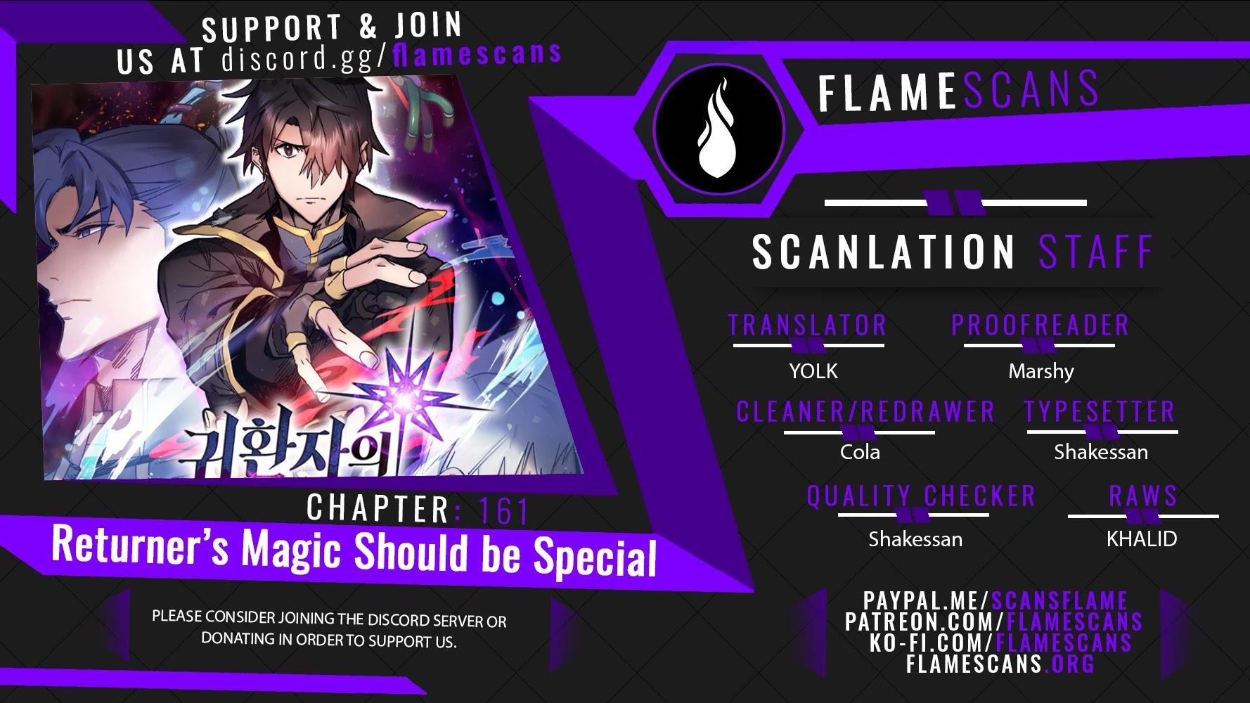 A Returner's Magic Should Be Special Chapter 161 page 1 - Mangakakalot
