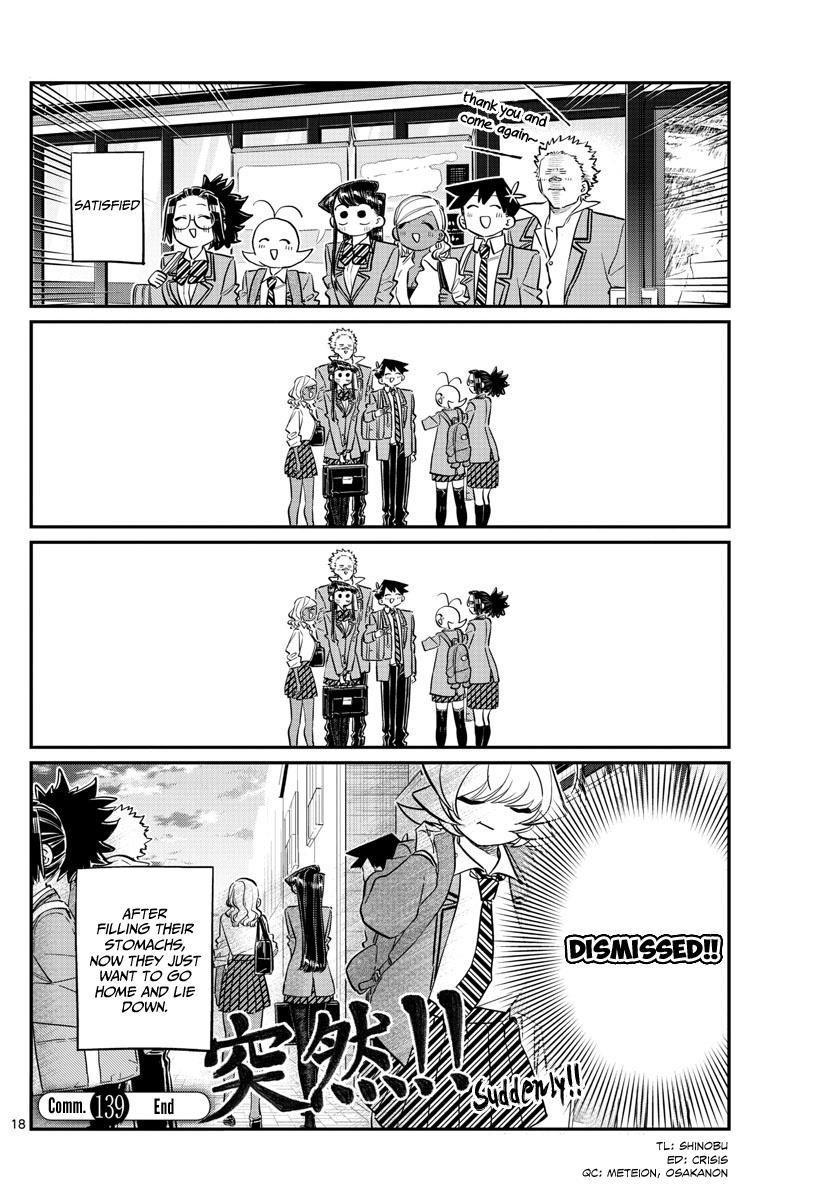 Komi-San Wa Komyushou Desu Vol.10 Chapter 139: Suddenly page 18 - Mangakakalot