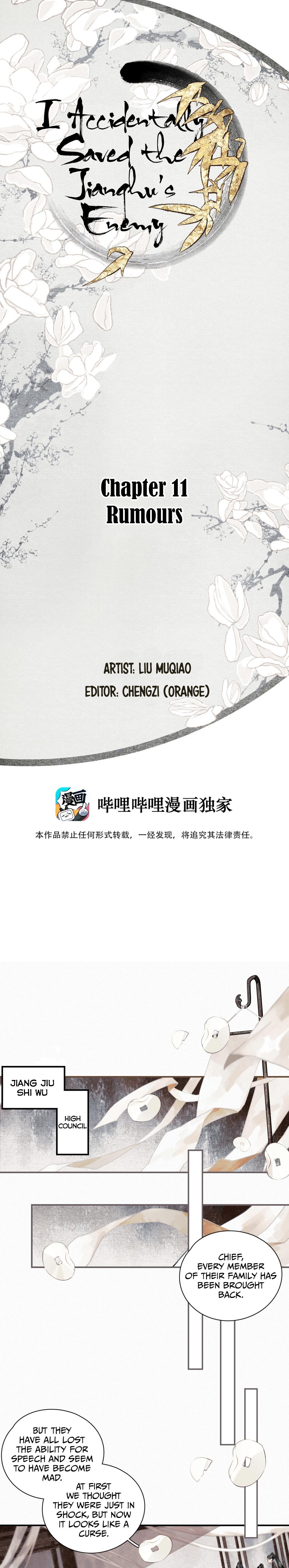 I Accidentally Saved The Jianghu'S Enemy Chapter 11: Rumours page 1 - Mangakakalots.com