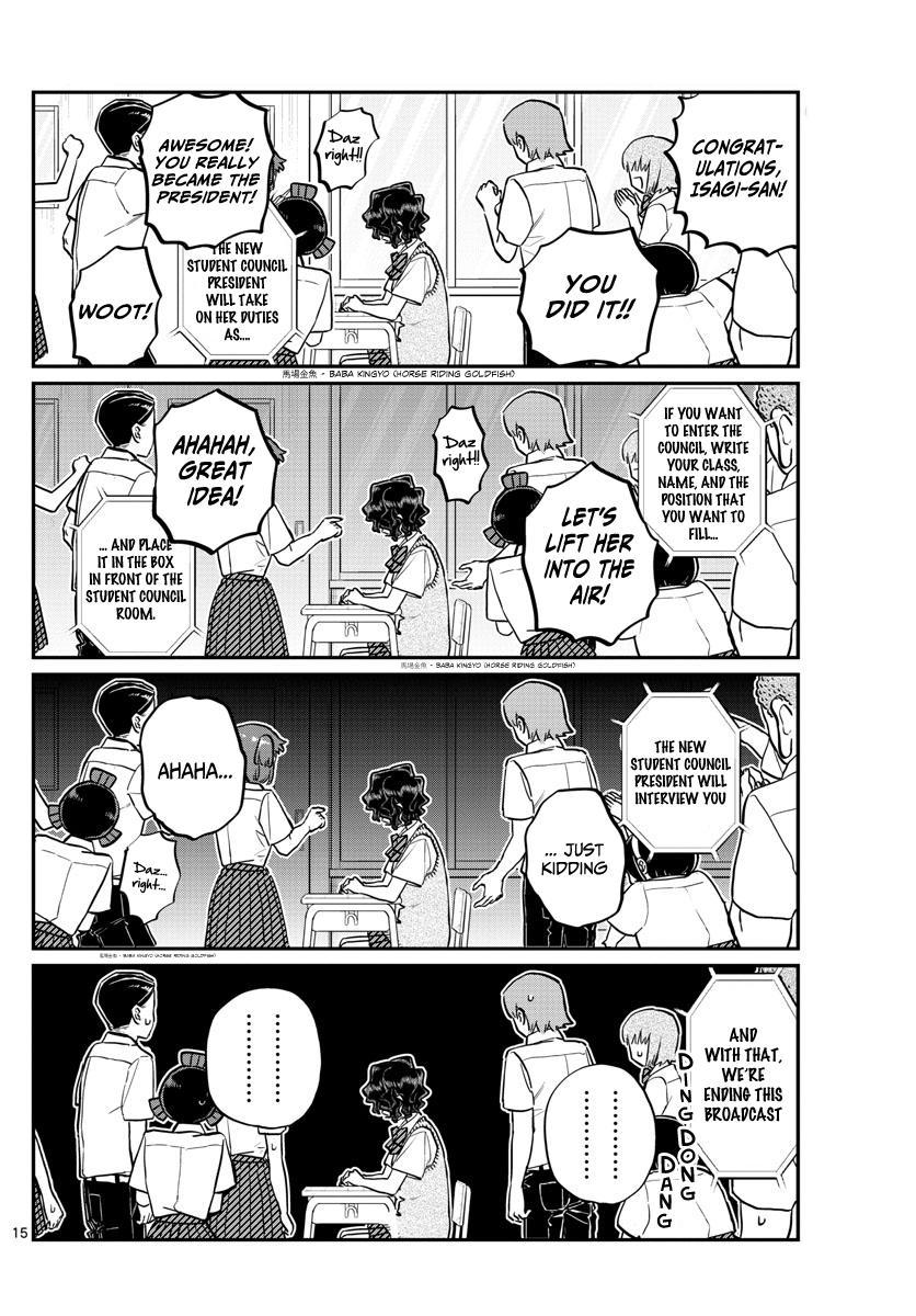 Komi-San Wa Komyushou Desu Chapter 203: Election Manager 2 page 15 - Mangakakalot
