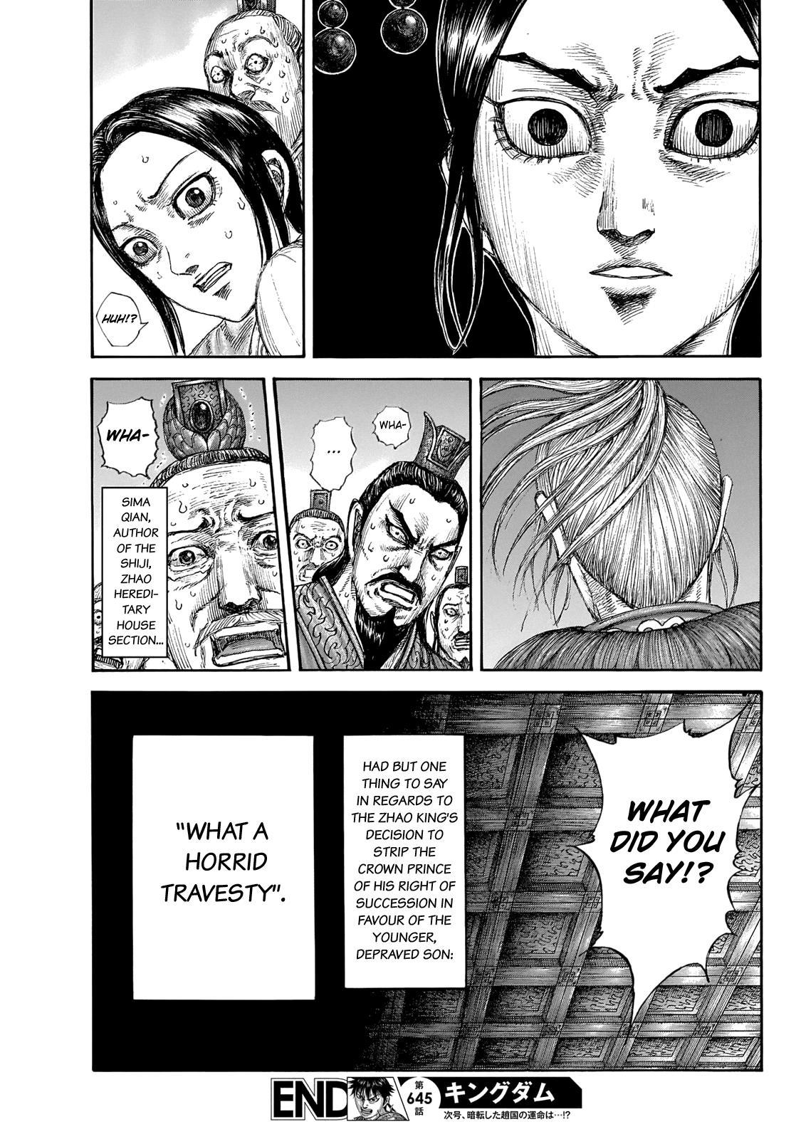 Kingdom Chapter 645: Zhao King's Decree page 21 - Mangakakalots.com
