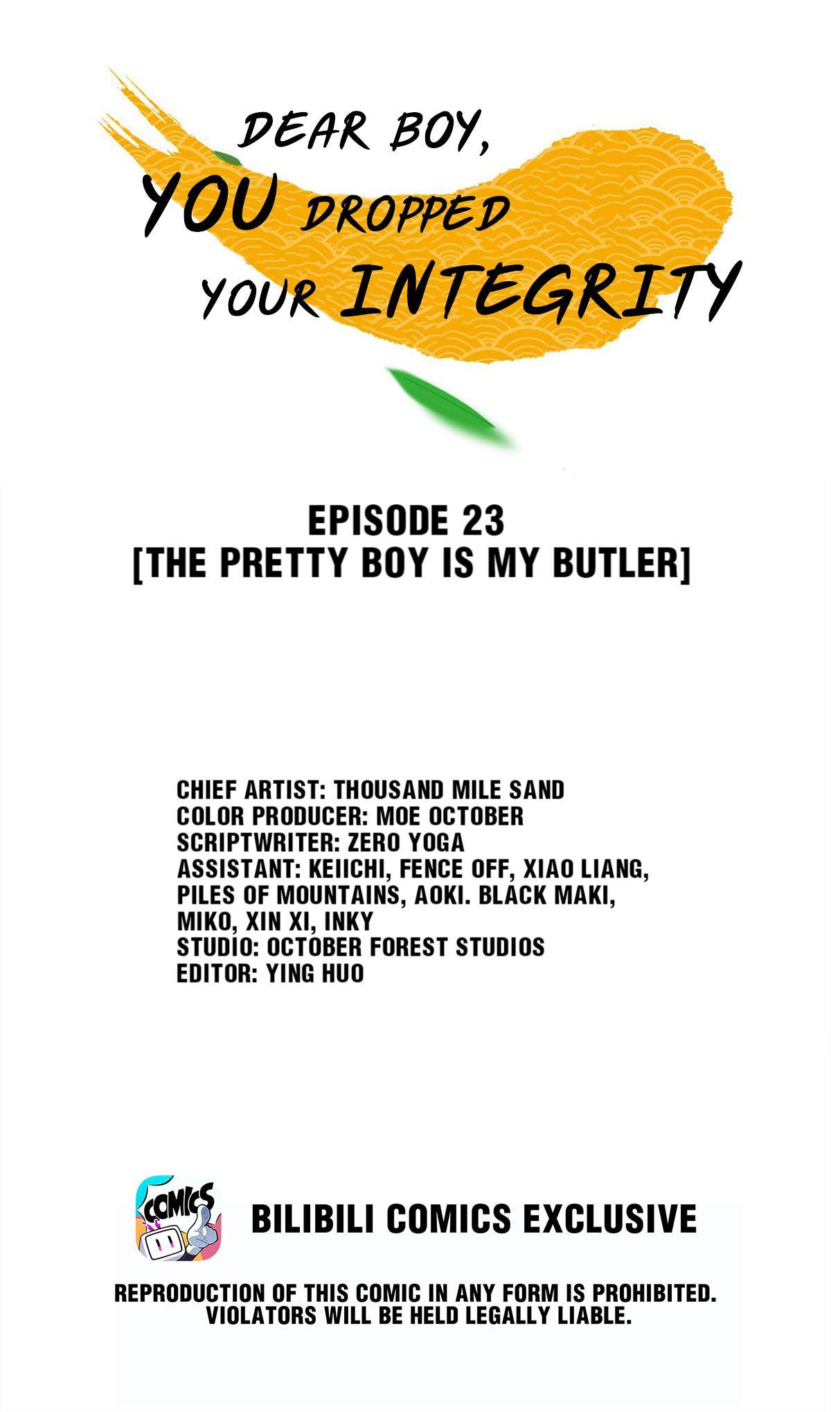 Dear Boy, You Dropped Your Integrity Chapter 23: The Pretty Boy Is My Butler page 1 - Mangakakalots.com