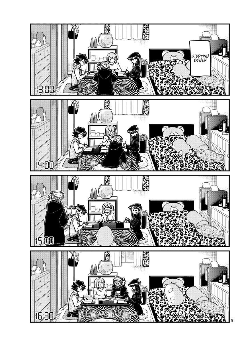 Komi-San Wa Komyushou Desu Chapter 257: Studying And A Sleepover page 9 - Mangakakalots.com