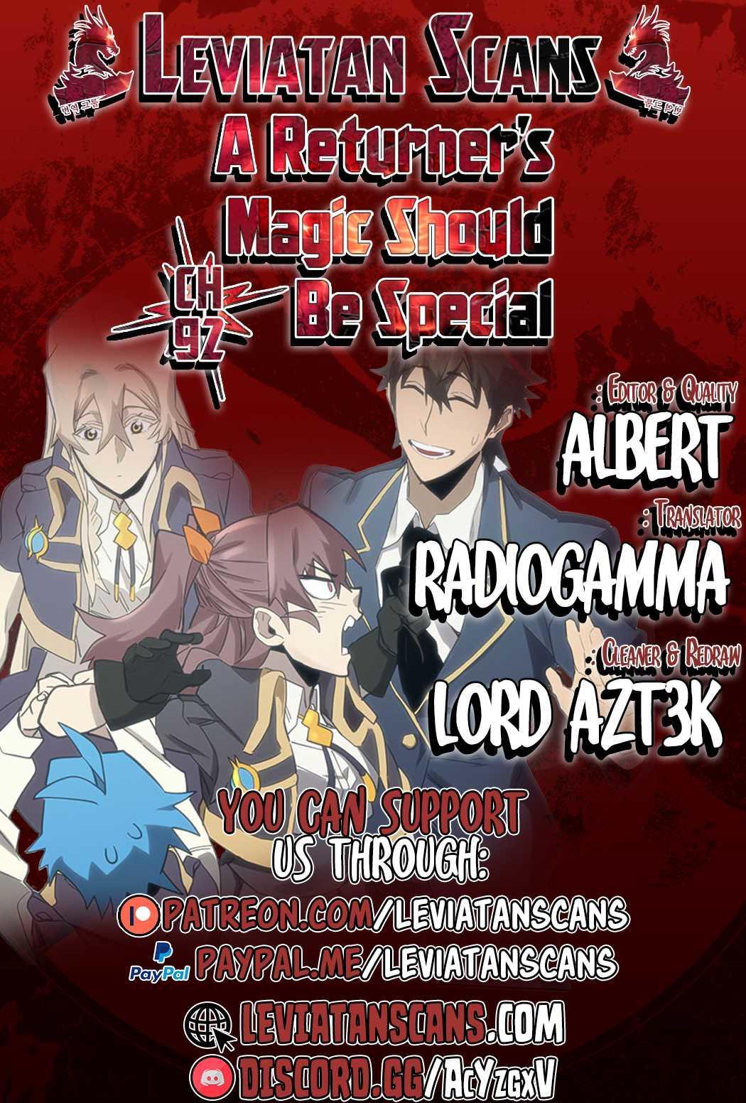 A Returner's Magic Should Be Special Chapter 92 page 1 - Mangakakalots.com