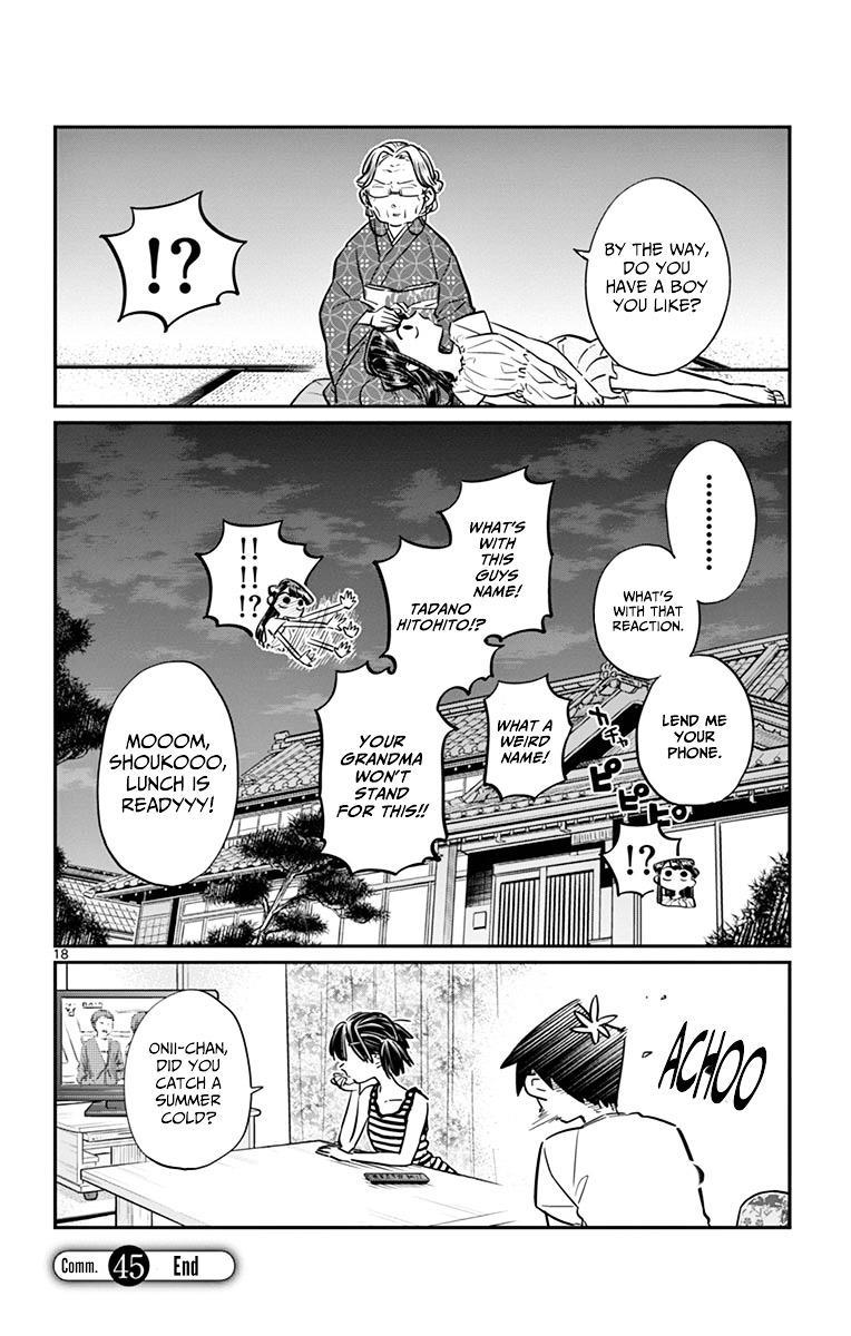 Komi-San Wa Komyushou Desu Vol.3 Chapter 45: Obon Festival page 18 - Mangakakalot