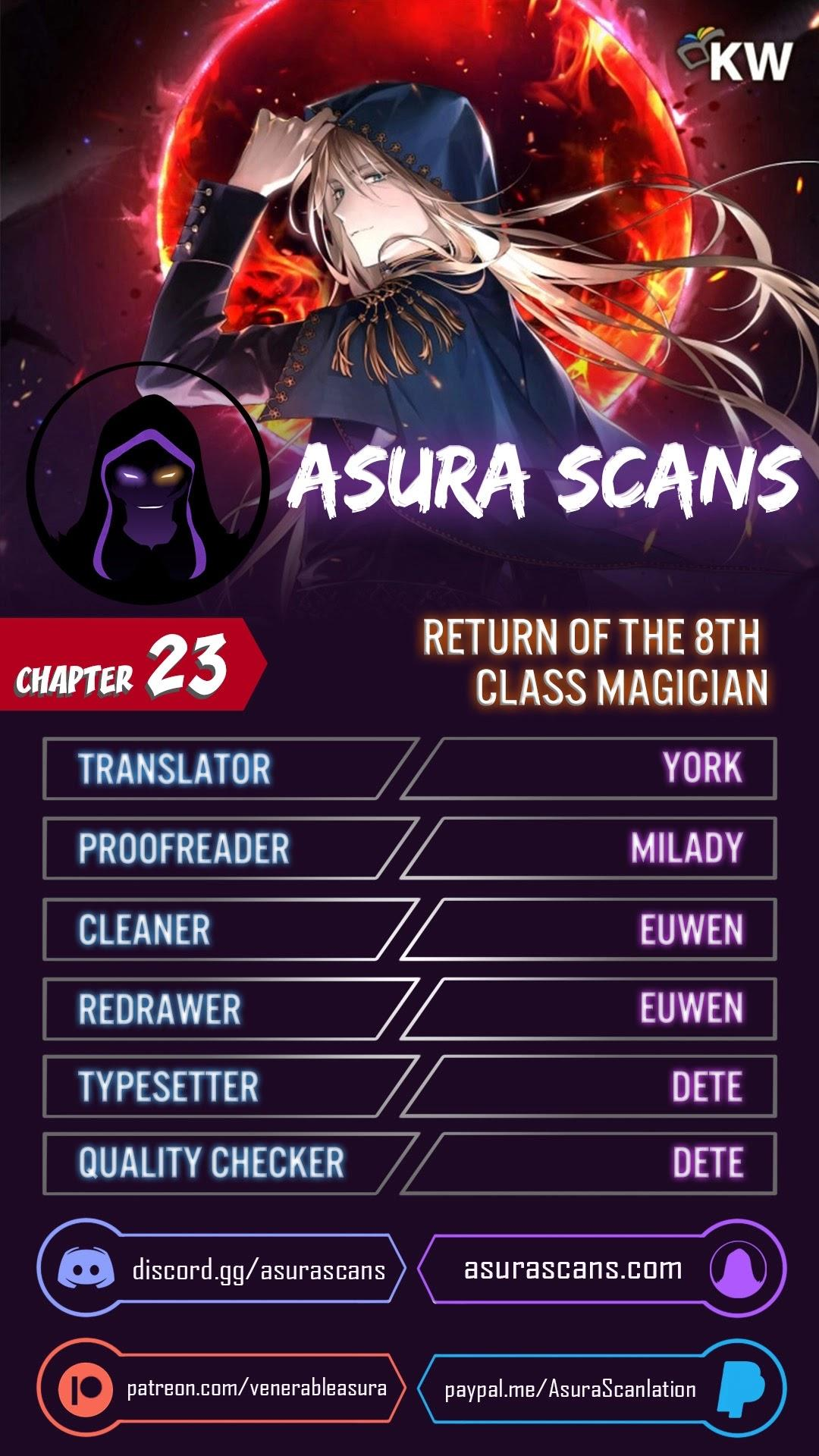 Return Of The 8Th Class Magician Chapter 23 page 1 - Mangakakalots.com