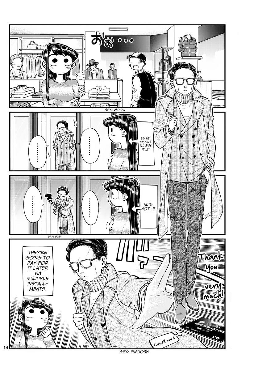 Komi-San Wa Komyushou Desu Vol.6 Chapter 74: Shopping With Dad page 14 - Mangakakalot