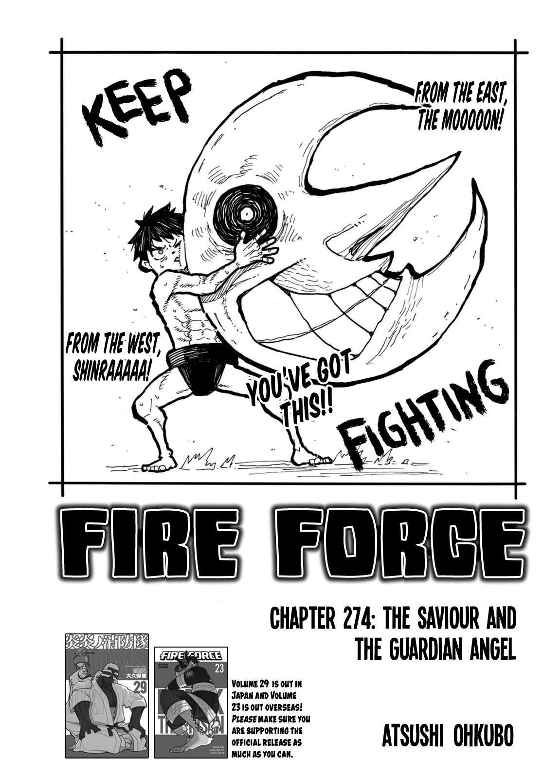 Enen No Shouboutai Chapter 274: The Saviour And The Guardian Angel page 1 - Mangakakalots.com