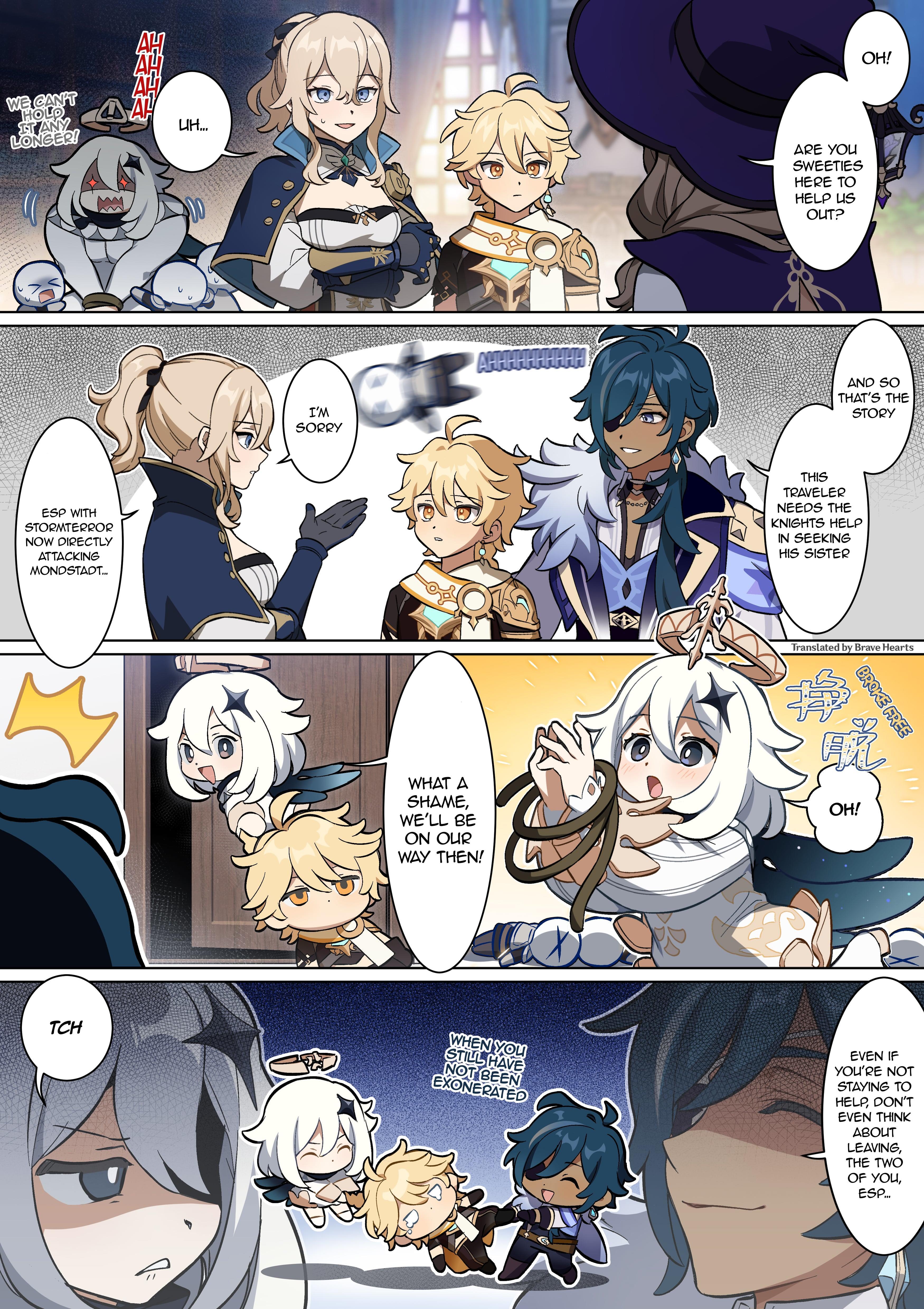 Genshin Impact 4-Koma Chapter 11: Knights Of Favonius page 1 - Mangakakalots.com