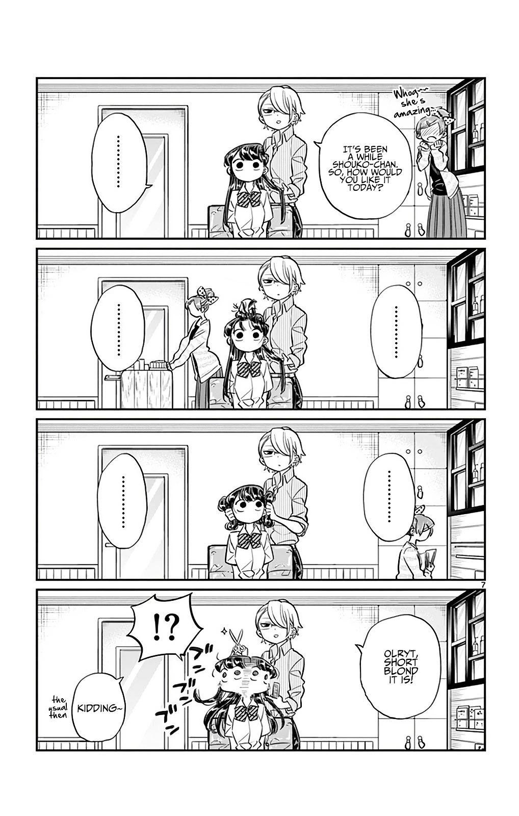Komi-San Wa Komyushou Desu Vol.2 Chapter 34: The Hair Salon page 7 - Mangakakalot