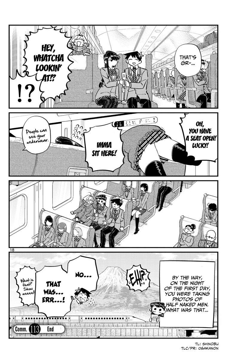 Komi-San Wa Komyushou Desu Vol.8 Chapter 113: The Train Ride Home page 18 - Mangakakalot