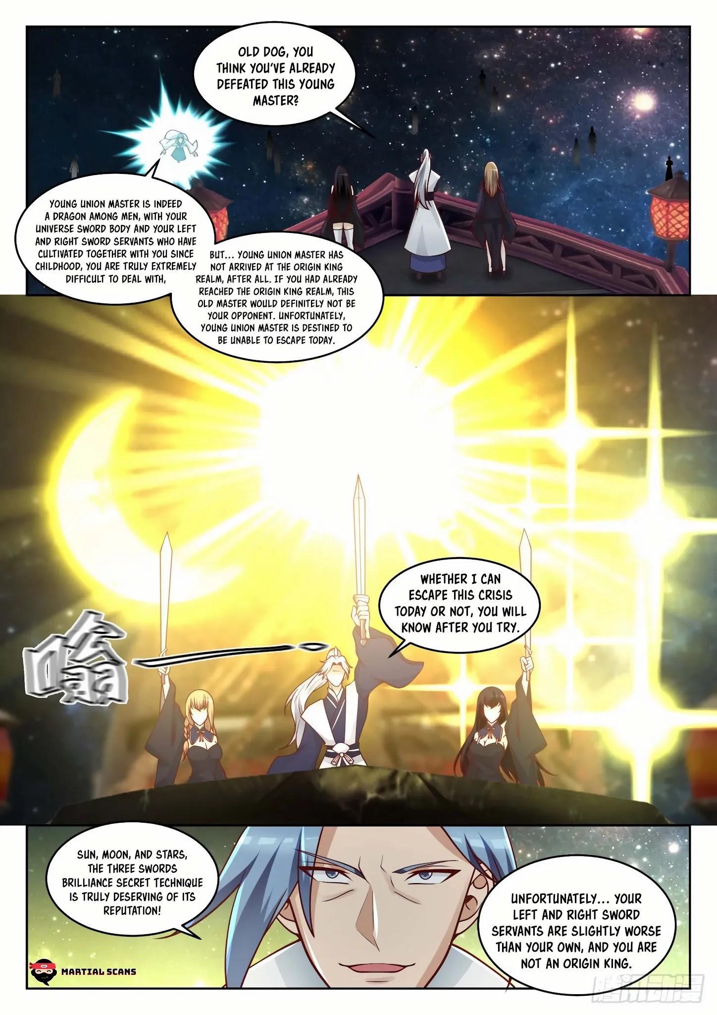Martial Peak Chapter 1445: Three Swords Brilliance Secret Technique page 9 - Mangakakalot