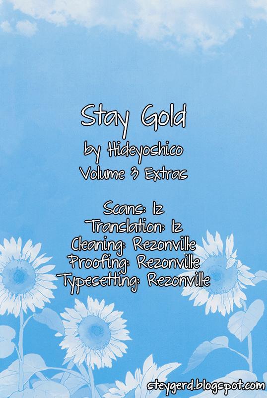 Stay Gold (Hideyoshico) Vol.3 Chapter 17.1: Extras page 1 - Mangakakalots.com