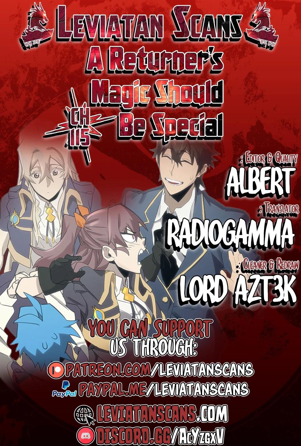 A Returner's Magic Should Be Special Chapter 115 page 1 - Mangakakalots.com