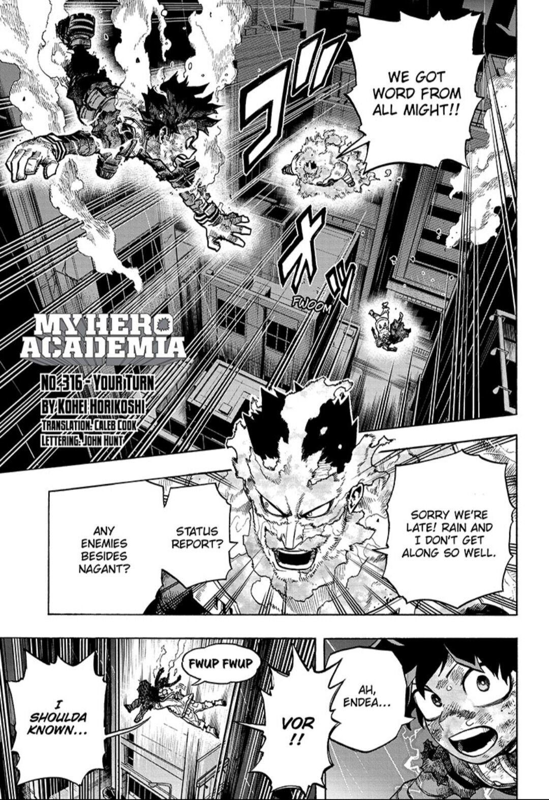 Boku No Hero Academia Chapter 316 page 1 - Mangakakalots.com
